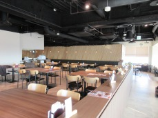 A small portion of the bright and spacious seating area